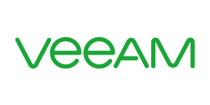 Green text saying Veeam on transparent background